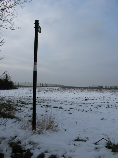 Bridleway along perimeter fence of Manston airfield