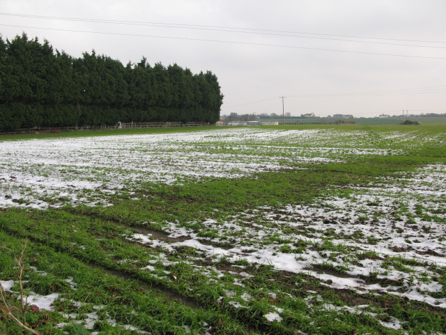 Farmland to the east of Preston Road