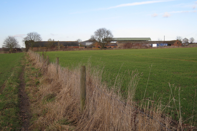 Barns and buildings west of Fields Farm