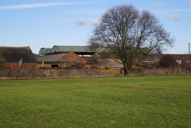 Barns complex west of Fields Farm