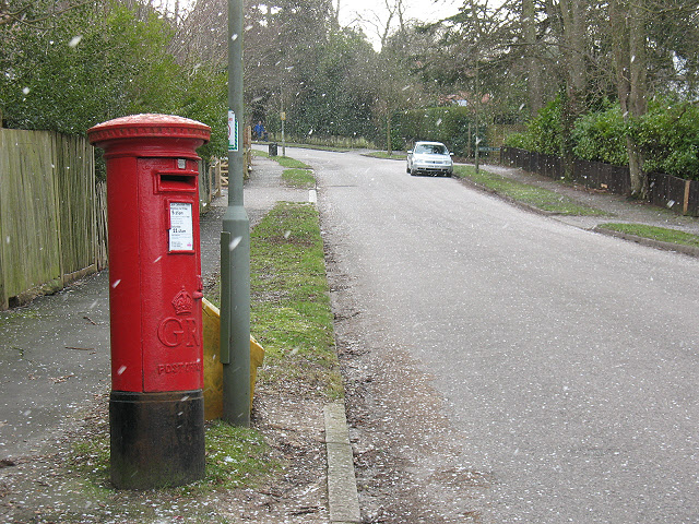 Post box on The Avenue, Tadworth