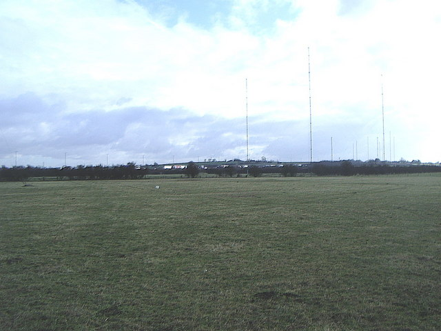 Radio masts and M1 motorway