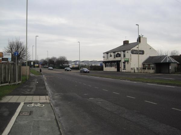 A185 towards South Shields