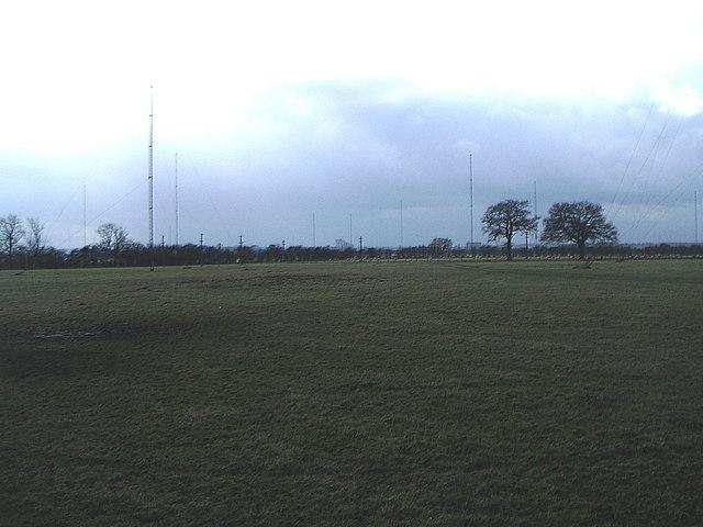Radio masts in fields, near Lilbourne