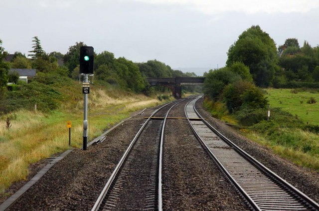 A footpath crosses the line at Churchdown
