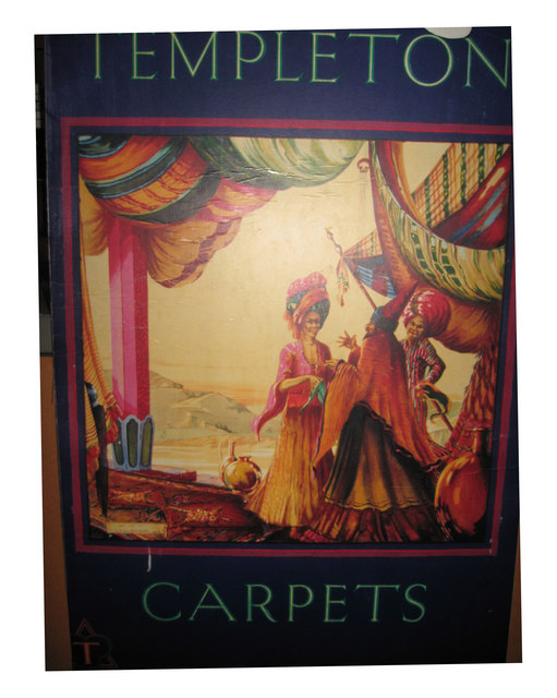 An old advert for Templeton's Carpets