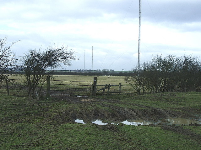 Radio masts, near Lilbourne