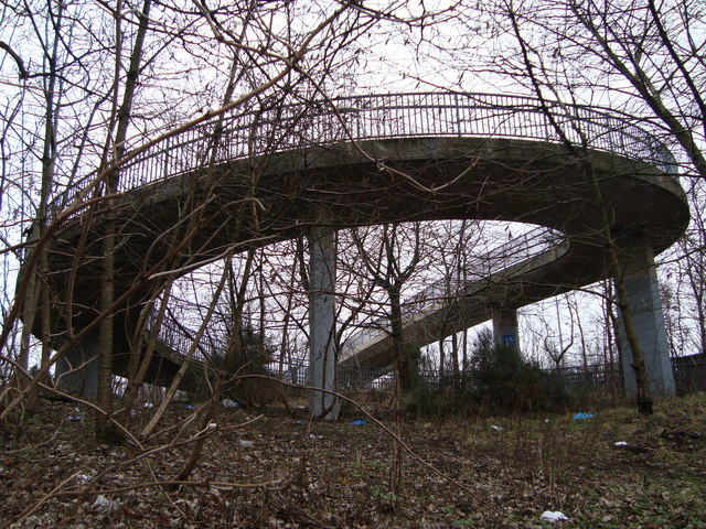 Footbridge over M8 Motorway