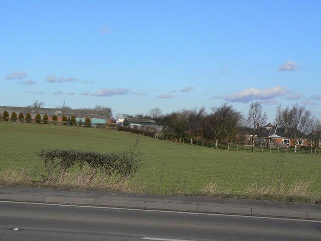 The Bungalow and adjacent farm buildings