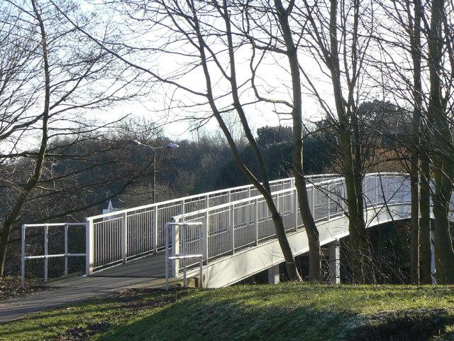 Footbridge over the bypass