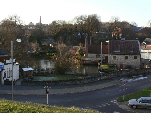 Pleasley Mill and pond