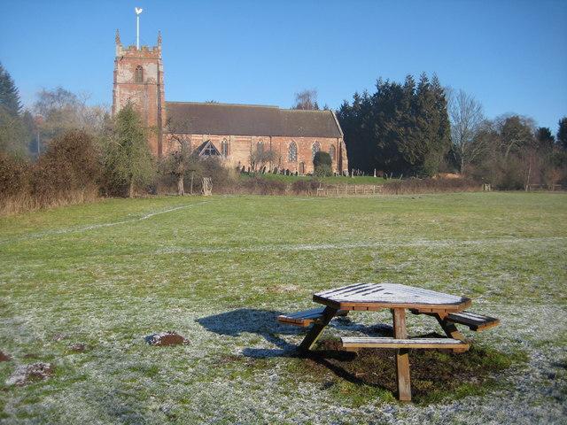 Millennium Green and Martley Church