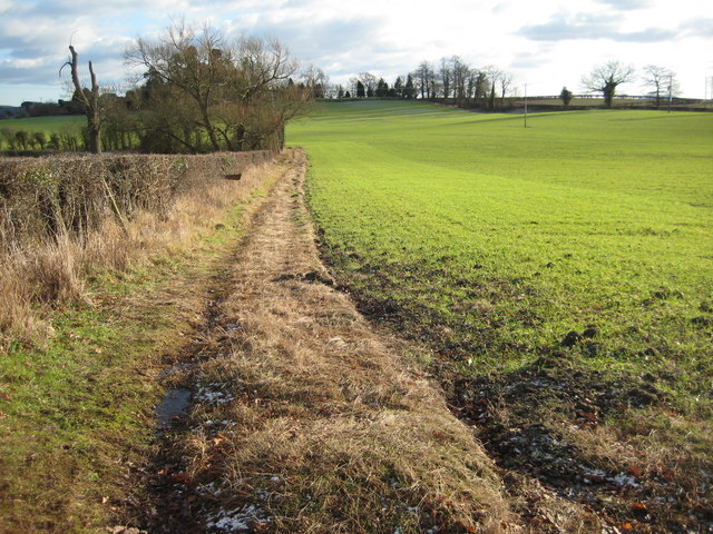 Footpath near Hillend Farm