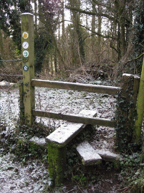 Stile on the Worcestershire Way
