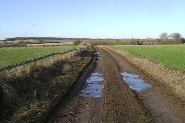 Bridleway north-northwest of Fields Farm
