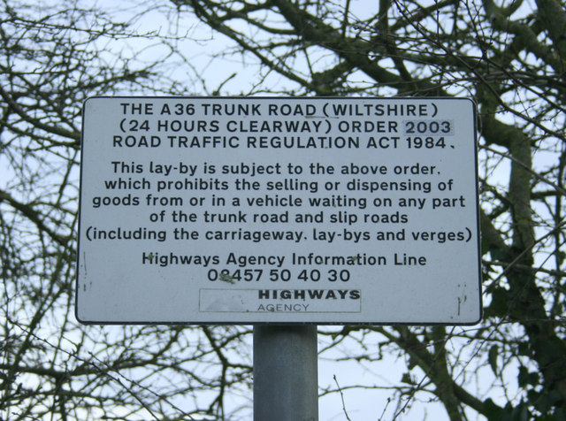 2010 : Notice in a layby on the A36