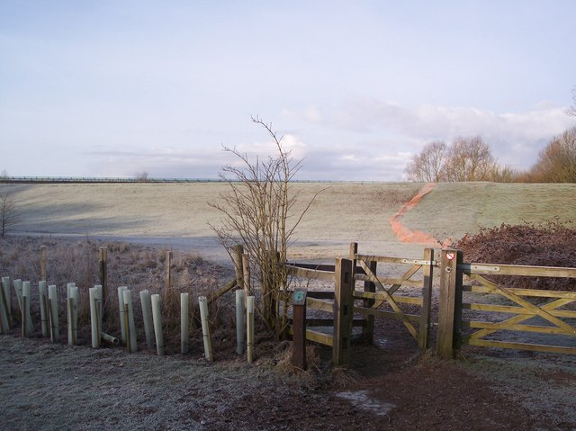 Kissing Gate beside River Medway Flood Embankment