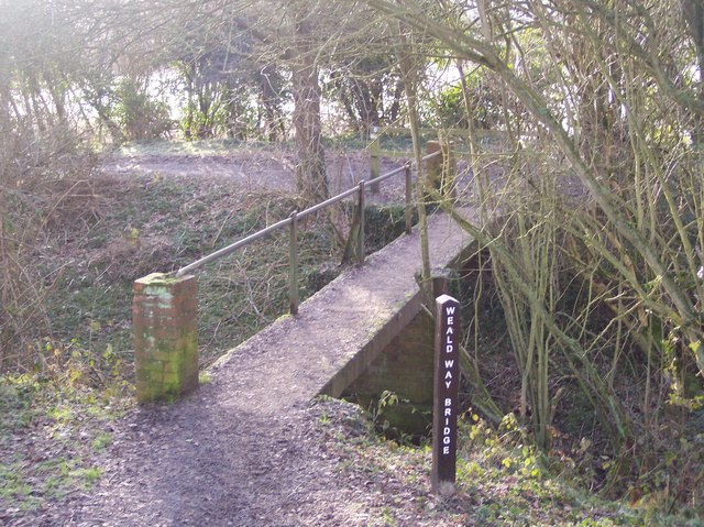 The Wealdway Bridge in Haysden Country Park