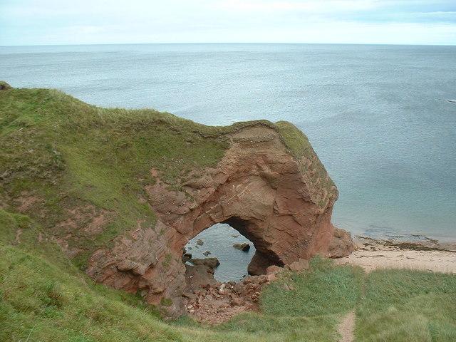 Arch, Aberdour Bay