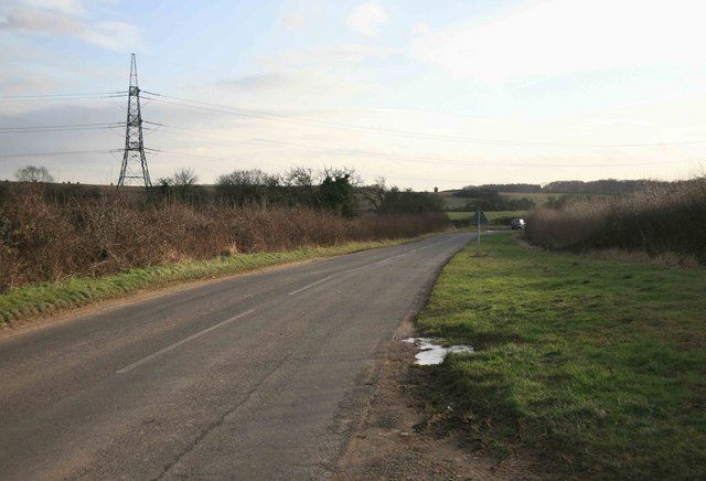Kneesall road having just left Laxton