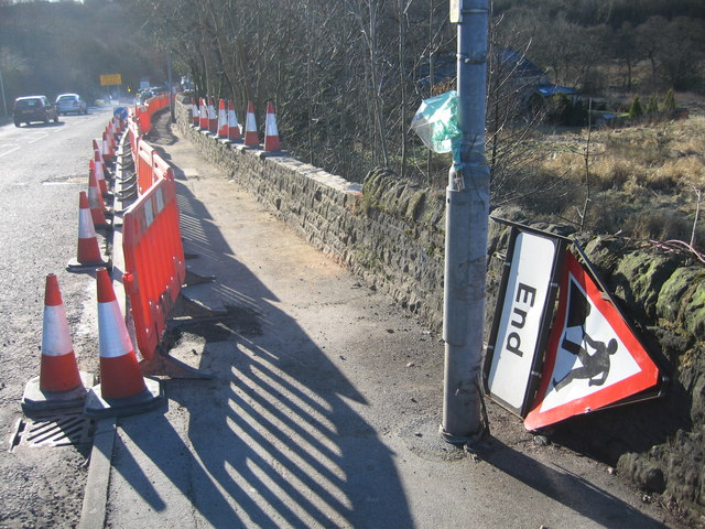 Stone Wall Repairs On A666, Egerton