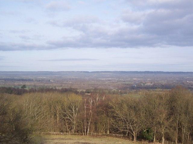 View from Bidborough Ridge looking northwards