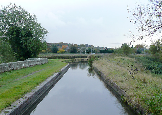 Canal crossing the River Sow near Milford, Staffordshire