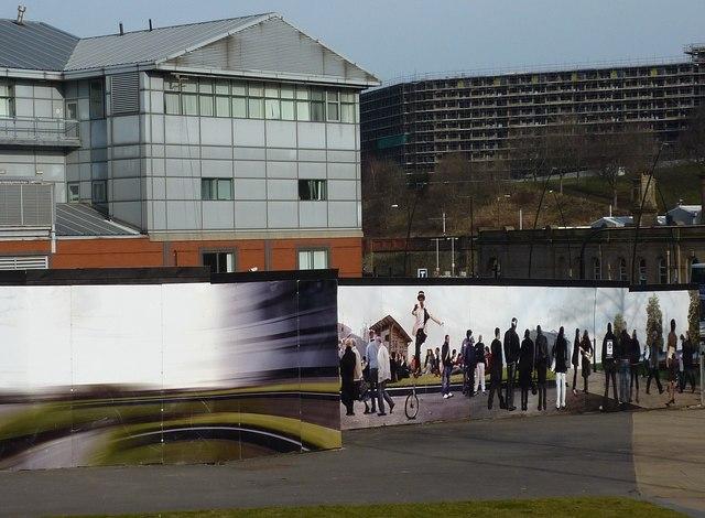 Realistic mural; Sheffield Hallam University