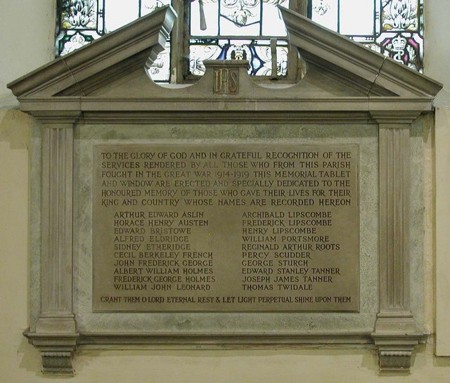 St Dunstan, Cranford - Memorial WWI