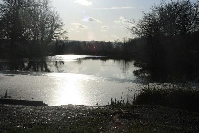 Fishing lake, St Ives Farm