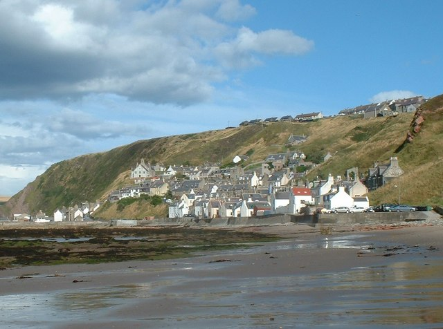Gardenstown  from the Beach