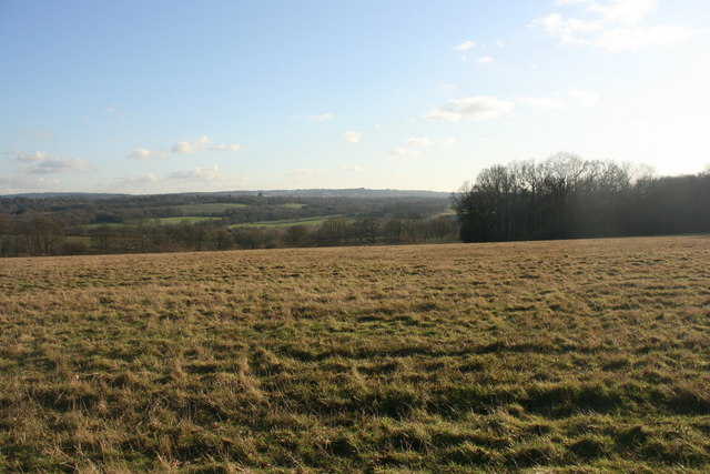 View south across the Weald from the High Weald Landscape Trail