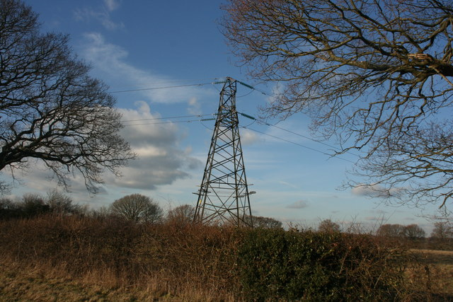 Pylon by the High Weald Landscape Trail