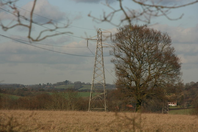 Pylon north of the High Weald Landscape Trail