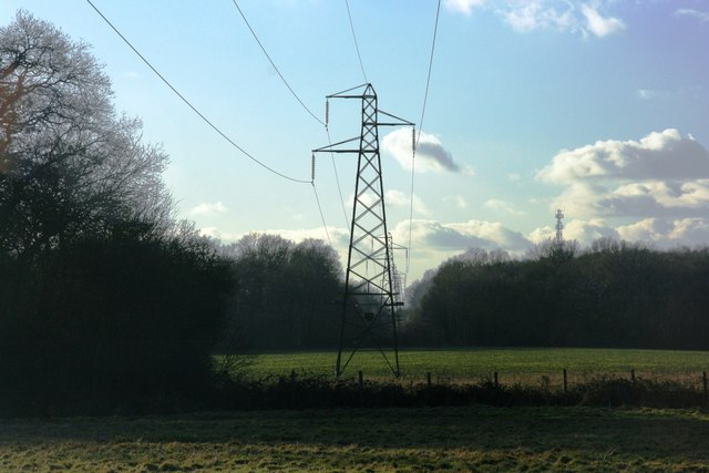 Pylons south of the High Weald Landscape Trail