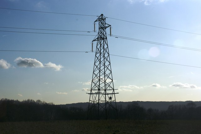 Pylon near Paupersdale Wood