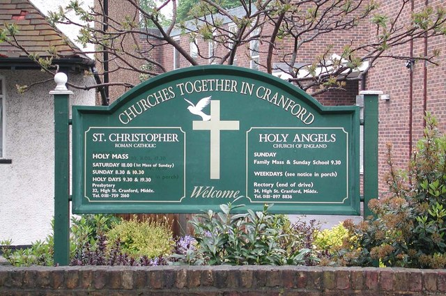 Holy Angels, Cranford - Noticeboard