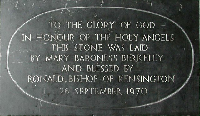 Holy Angels, Cranford - Foundation stone