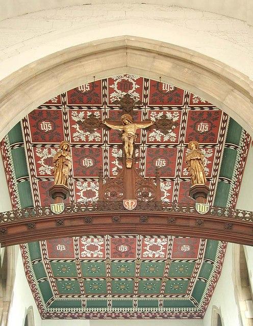 St Benet & All Saints, Kentish Town - Chancel roof