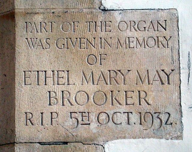St Benet & All Saints, Kentish Town - Memorial stone