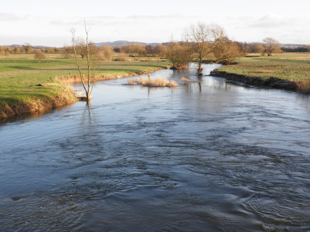 The River Lugg, seen from Wergins Bridge