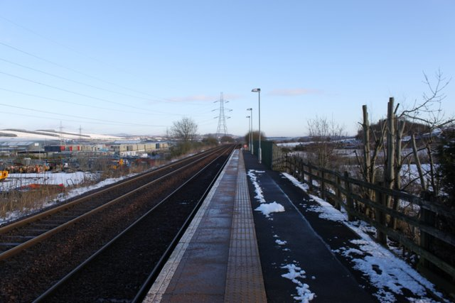 Lochgelly railway station south platform