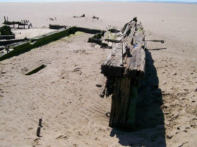 Shipwreck at Tywyn Point