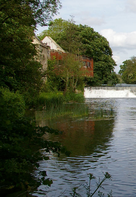 Avoncliff Mill and weir
