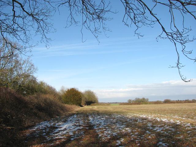 Snow lingering in field east of Hobb's Lane