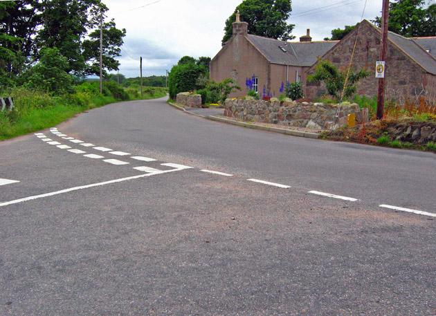 Road junction at Hirn