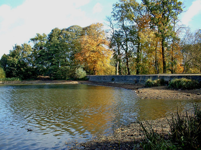 The causeway at Coate Water Country Park, Swindon