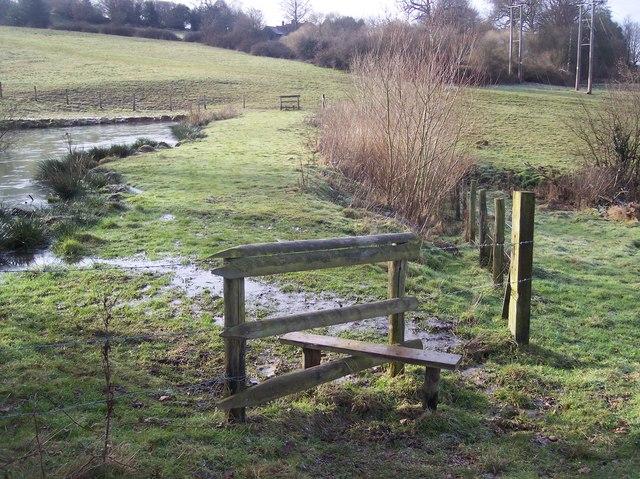 Stile and footpath near Stone Wood Pond