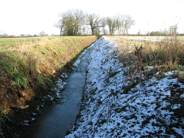 Snowy ditch south of Swargate Lane