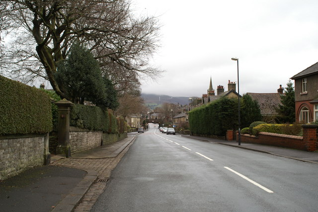 Looking down Waddington Road